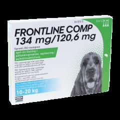 FRONTLINE COMP 134/120,6 mg vet paikallisvaleluliuos (koirille)3x1,34 ml